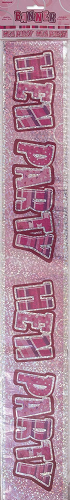 Unique Party 55414 - 12ft Glitz Pink Prism Hen Party Banner